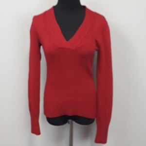 Converse red v neck pullover sweater size xs
